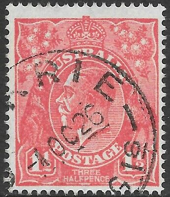 KGV     11/2d  RED  SINGLE WATERMARK    26R58  RETOUCH BELOW NECK AT RIGHT