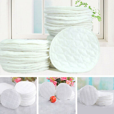 Feeding Nursing Breast Pad Washable Absorbent Breastfeeding Reusable 5PCS