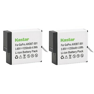2 x GoPro Rechargeable Battery AABAT-001 for GoPro Hero 5/6/7 1200mAh