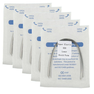 5bags Ortho dental Super Elastic Niti Ovoid Round Arch Wire all size Upper/Lower