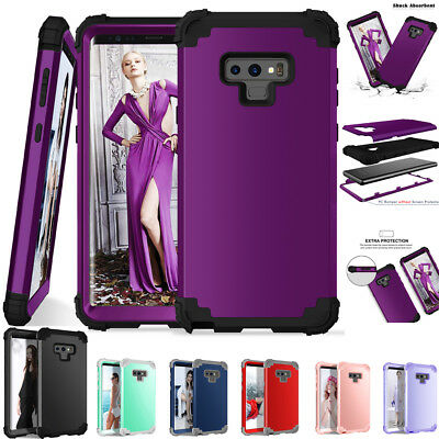 360° Hybrid Armor Rubber Shockproof Cover Case For Samsung Galaxy Note 9 S9 Plus