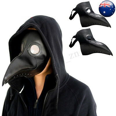 Steampunk Plague Doctor Mask Bird Beak Halloween Prop Cosplay Punk Gothic Masks