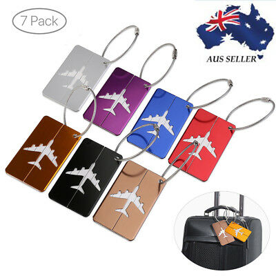 One Pack Novelty Travel Suitcase Tag ID Address Name Label Key Ring 7 Colors