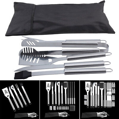5/21/32 PCS BBQ Grill Cooking Utensils Tool Set Stainless Steel Barbeque W