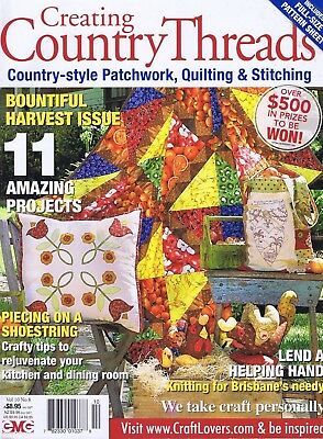 COUNTRY THREADS Patchwork Quilting Magazine Country Chicken Dolls  vol 10 No 8