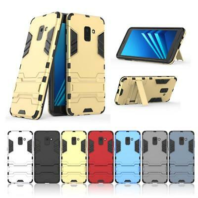 Shockproof Bumper Armor Hybrid Cover Case Stand For Samsung Galaxy A8 Plus 2018