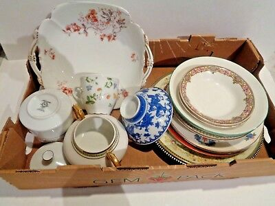 Lot of ANTIQUE/VINTAGE China for Mosaic Tiles ~ Broken Plates Repurposed