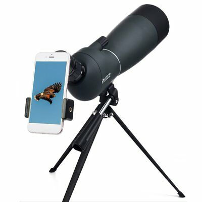 25-75x70mm Angled Zoom Spotting Scope W/Telescope Tripod&Phone Adapter ER