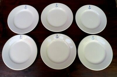 lot 6 assiette a dessert Marine Nationale porcelaine ancre équipages marin N°1