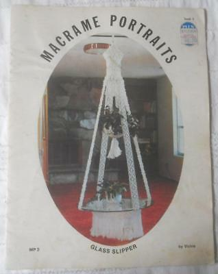 Vintage 1976 Pattern Book 3 Macrame Portraits Plant Hangers Hanging Tables