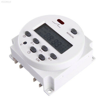 DC 12V 16A LCD Digital Display Power Programmable Timer Relay Switch for Light