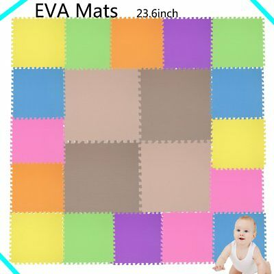 9 COLORS EVA Foam Floor Mat Interlocking Exercise Gym Puzzle Tiles GETRUN LOT VP