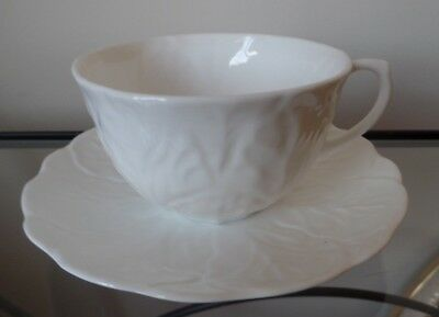 Large Wedgwood Countryware White Breakfast Cup And Saucer Bone China