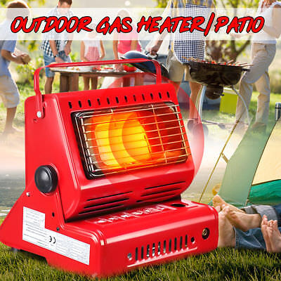 1300W Portable Outdoor Butane Gas Heater Flueless Camping Tent Hiking Grill BBQ