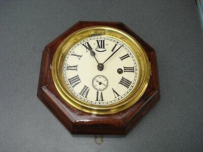 Old American Marine Octagonal Ships Clock 220 Mm Across Parts Spares