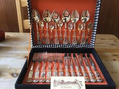 Vintage Silver Plated Cutlery Set-made in Italy-Fabriqie En Italie