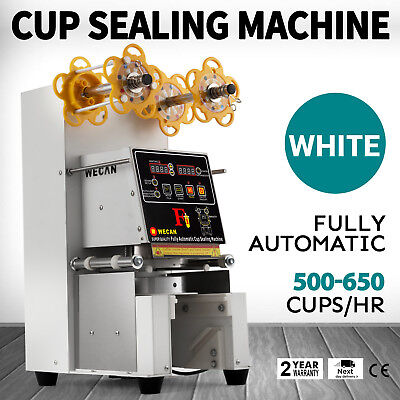 Electric Sealing Machine Cup Sealer Boba Bubble Tea Coffee 500-650 Cups/Hour