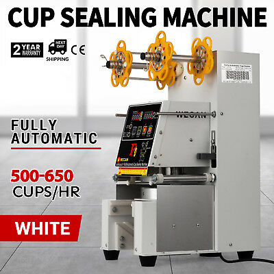 Electric Fully-automatic Bubble Tea Cup Sealer Sealing Machine 500-650 Cups/Hr