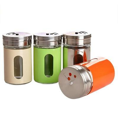 Kitchen Seasoning Bottle Rotating Spice Jar Salt Pepper Shaker Storage Container