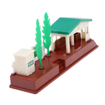 Small Plastic Country Car Train Railway Station Model for Diorama Accessory