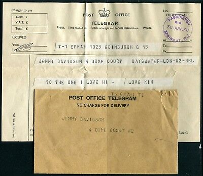 UK Telegram with cover Perth 30JUN76