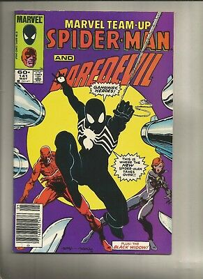 Marvel Team-up #141 1984 fn Spider-Man 1st Black Costume Marvel Comics US comics