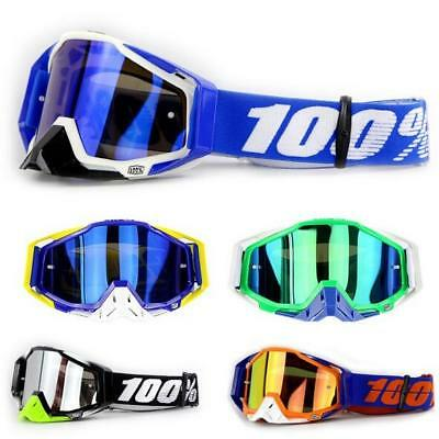 100% STRATA Goggles -ALL COLORS- Offroad MX Motocross - CLEAR OR MIRROR LENS