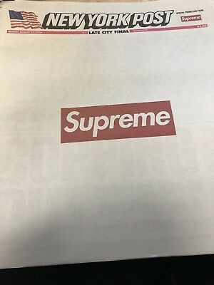 Supreme New York Post Newspaper August 13th In Hand Ready To Ship