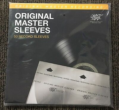 50 x MOFI Mobile Fidelity Original Master Inner Sleeves for Vinyl LP records ant