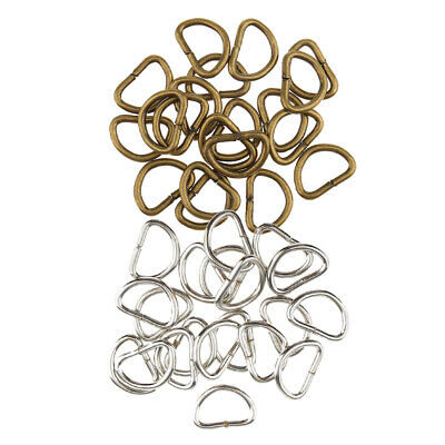200pcs D Rings Buckles Hook Accessories for Webbing 10mm Silver Bronze