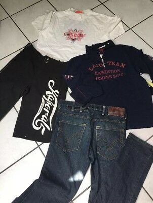 Lot Garcon 16 Ans  Short Kaporal Jean H.landers  + Polo Ml + Oxbow