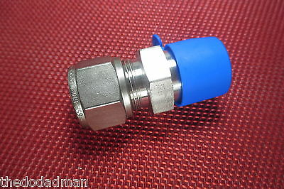 SSP Grip® 1/2 Tube OD x 1/2 NPT Male Pipe STRAIGHT CONNECTOR 316 Stainless Steel