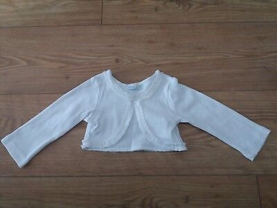 Mayoral baby girls shrug/bolero. 6-9 months. White.