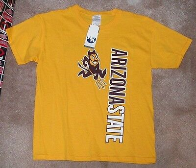 NEW NCAA Arizona St State Sun Devils T Shirt Youth Boys L 14 Fear the Fork 0b64c8c726d3
