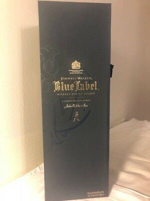 Johnnie Walker Blue Label Glass with Gift Box Case with contents 750ml