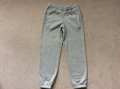 LA Gear childrens cropped 3/4 length sweat pants/joggers age 9/10 grey marl
