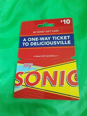 GIFT CARD Collectible fast food related SONIC DRIVE•IN MINT