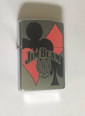 Jim Beam Bourbon Whiskey Zippo Lighter In Original Packaging,