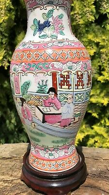 Beautiful Antique Vintage Chinese Oriental Decorative Table Light Lamp *