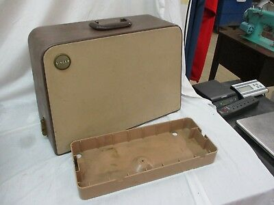 Singer 401a 403 404 500 503 Rocketeer Sewing Machine Snap On Case w Bottom Cover