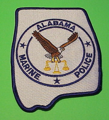 Alabama  Marine Police  Conservation  ( Type 2 )  Police Patch   Free Shipping!!