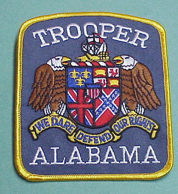 "Alabama Trooper  "" We Dare Defend Our Rights ""  ( Flags )    Police Patch"