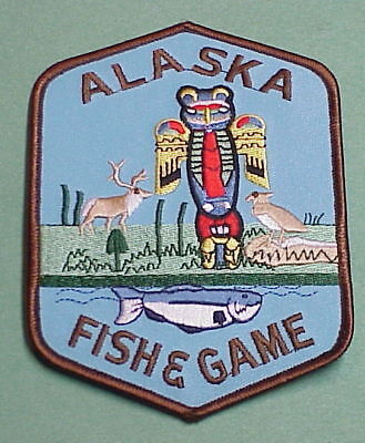 """Alaska  Fish & Game   Police Patch  5 1/2""""   Free Shipping!!!"""