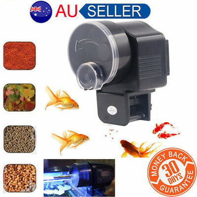 Automatic Fish Feeder Aquarium Tank Electronic LCD Fish Food Feeder Timer CO