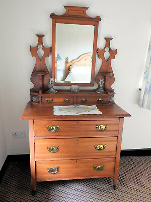 Late Victorian Dressing Table/Chest with Swivel Mirror MUST SELL SOON!!