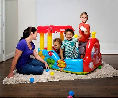 Fisher-Price Train Inflatable Ball Pit by Bestway Indoor or Outdoor