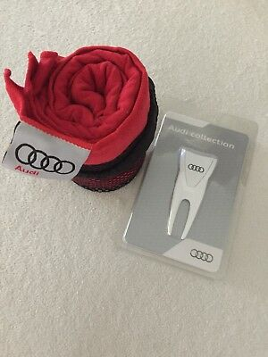 Audi Collection Golf Handtuch und Pitchgabel