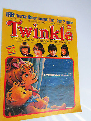 1982 Twinkle Comic, Puzzles done, Twinkle cut-out Doll & Clothes intact No 767