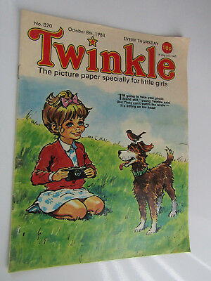 1983 Twinkle Comic, Puzzles done, Twinkle cut-out Doll & Clothes intact No 820
