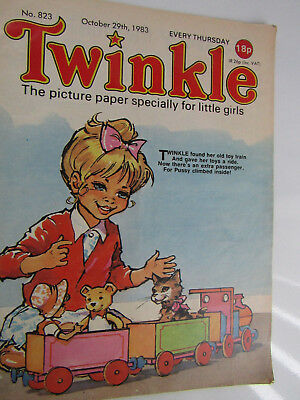 1983 Twinkle Comic,Puzzles not done,Twinkle cut-out Doll & Clothes intact No 823